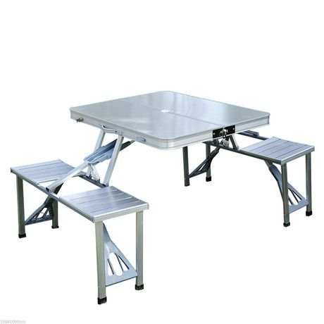 Fabulous Outsunny Outdoor Portable Folding Aluminum Picnic Table Grey Uwap Interior Chair Design Uwaporg