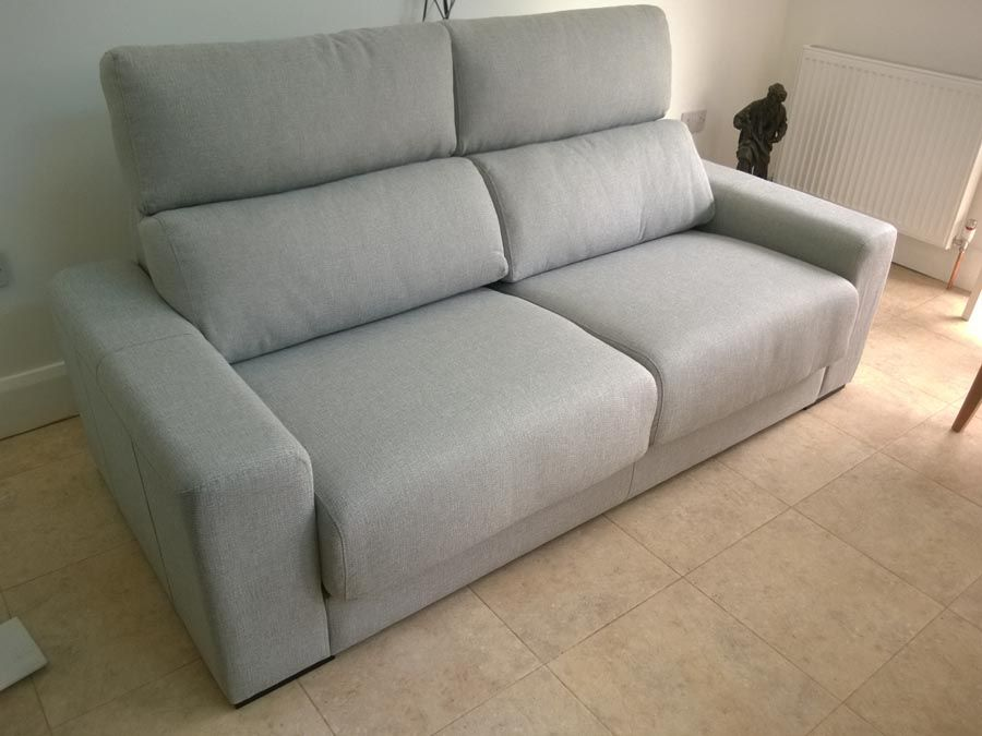 firenze 2 seater sofa in fabric sofa with adjustable headrests