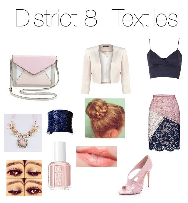 Hunger Games polyvore outfit. District 8: Textiles