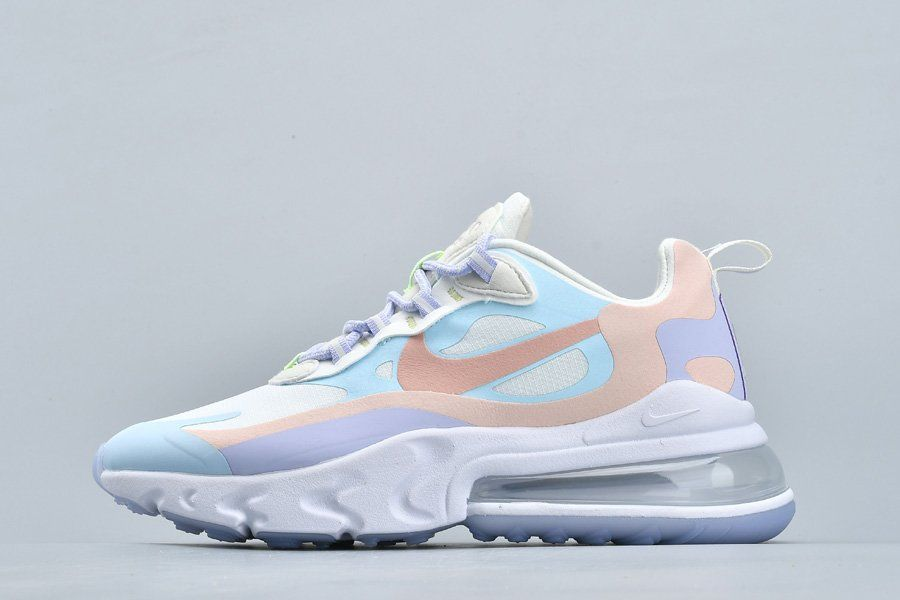 Ladies Nike Air Max 270 React Sail/Coral Stardust-White ...