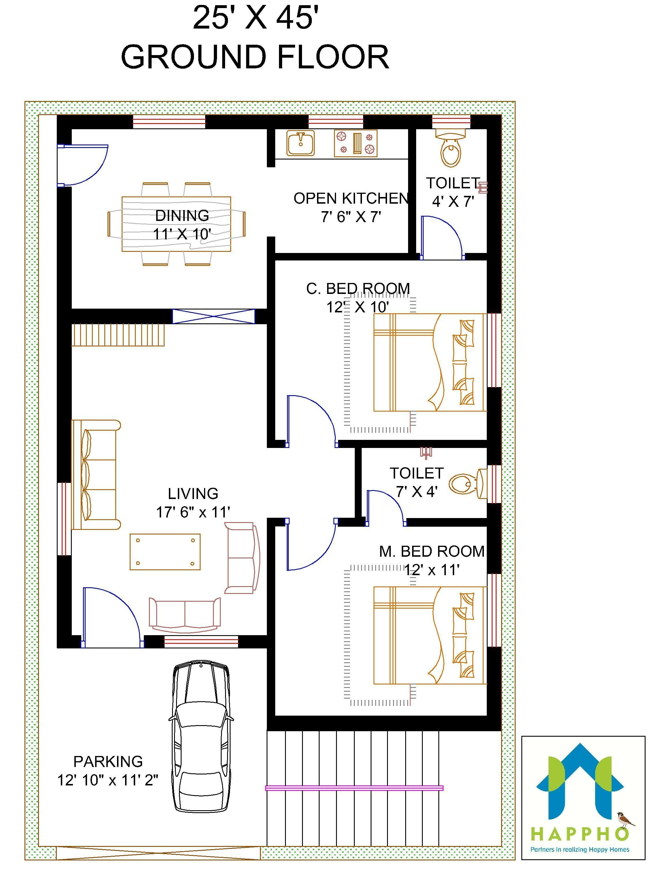 Decor With Cricut Naksha 2545 Duplex House Plans In 2020 20x40 House Plans Indian House Plans Bedroom House Plans