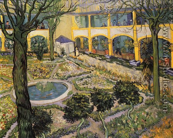 Patio del hospital en Arles - Vincent Van Gogh
