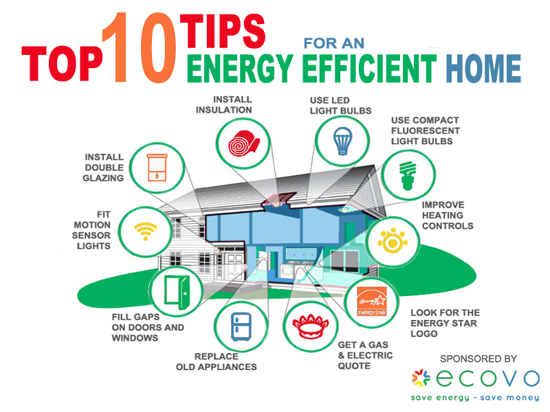 Top 10 Energy Efficiency Tips For Your Home For More
