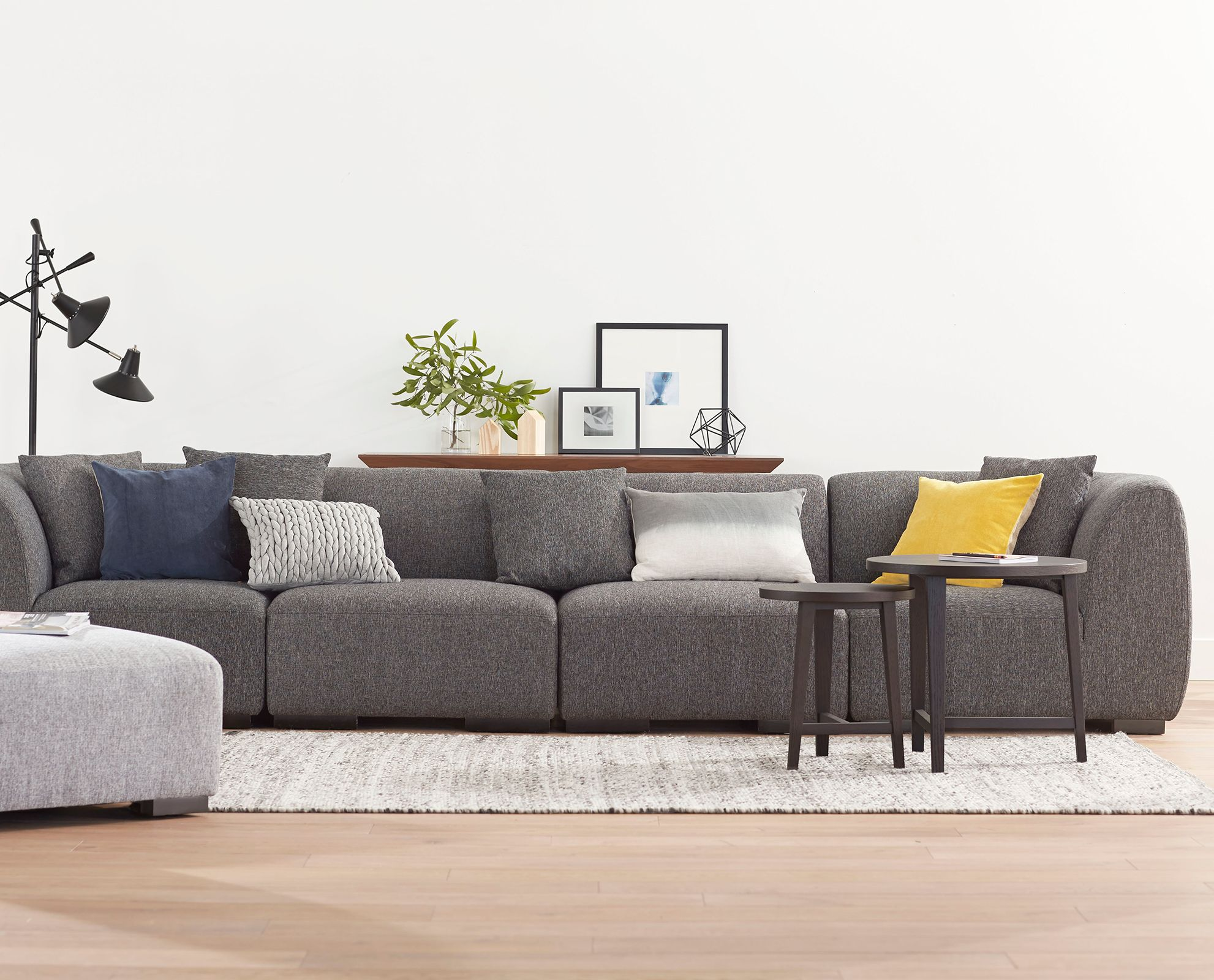 The Kelsey 5 piece modular sectional from Scandinavian Designs