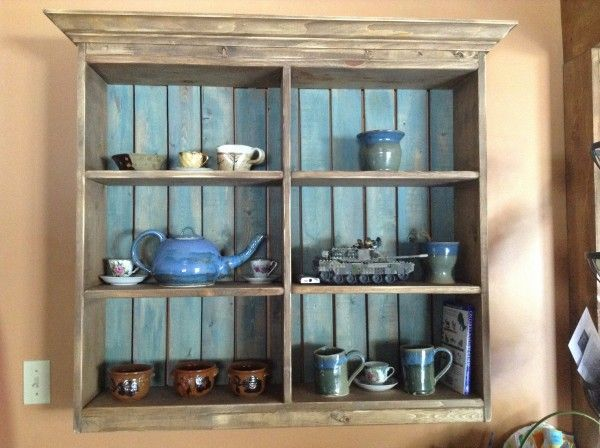 Rustic Display Wall Unit | Do It Yourself Home Projects from Ana ...