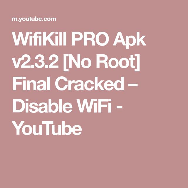 wifi kill apk pro no root