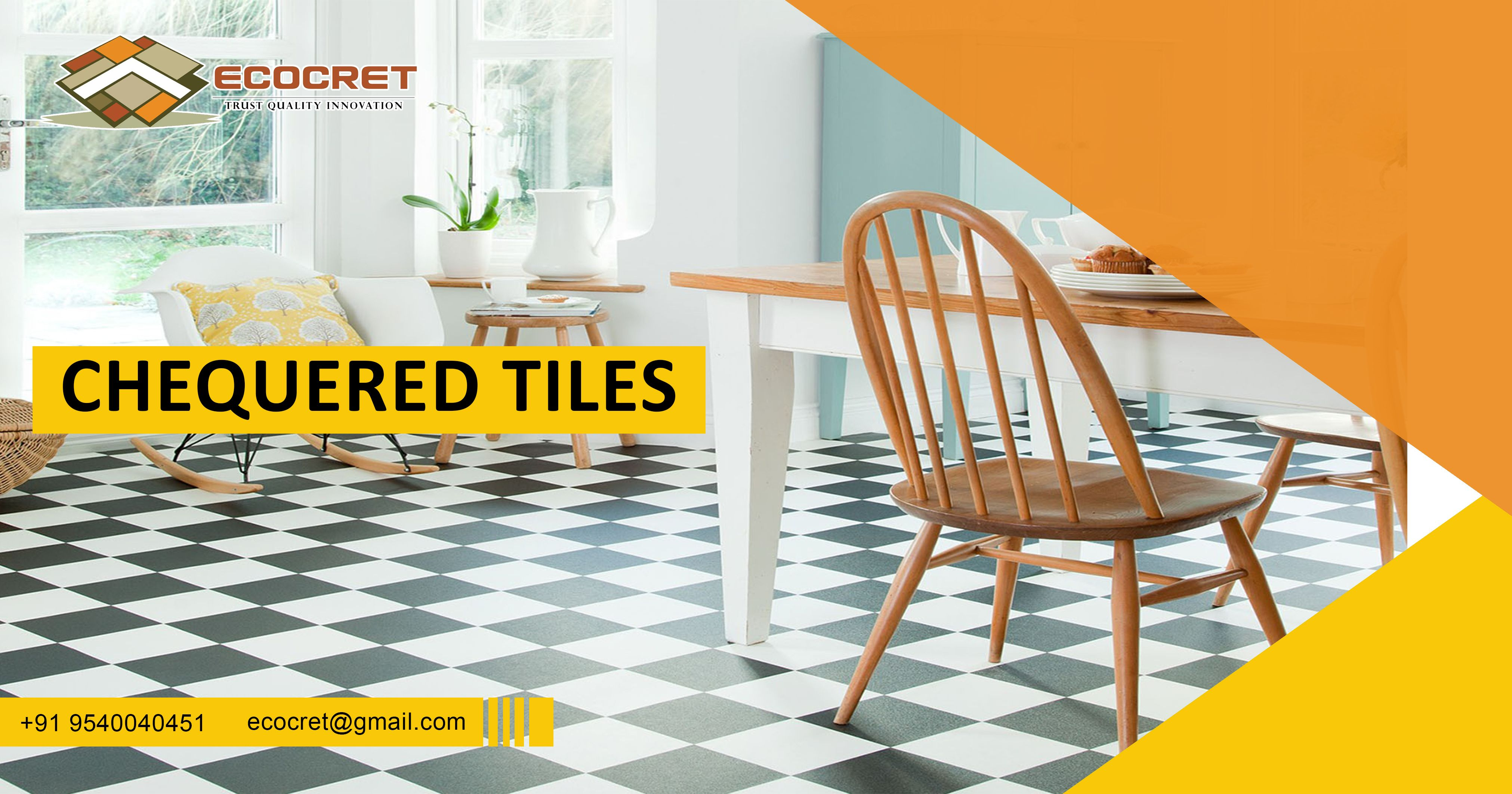 Ecocret Is The Largest Manufacturer And Suppliers Of Chequered Tiles In Delhi NCR Chequeredtile