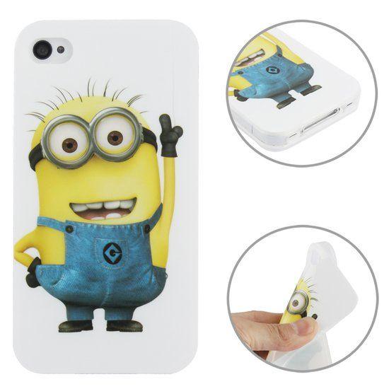 Mesh - iPhone 4(s) Hoesje - Zachte Back Case Wise Minion