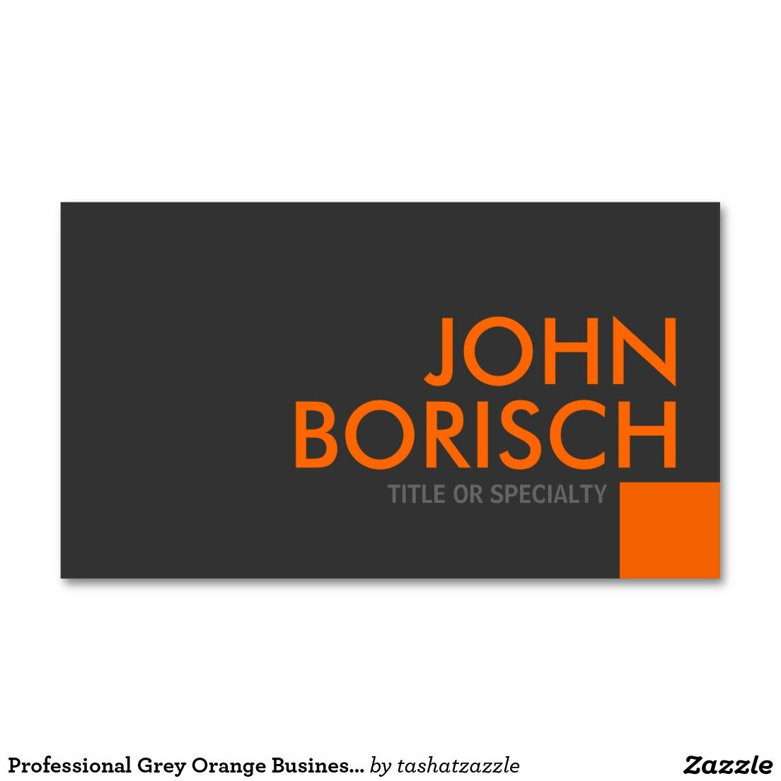 Professional Grey Orange Business Profile Card | Pinterest ...