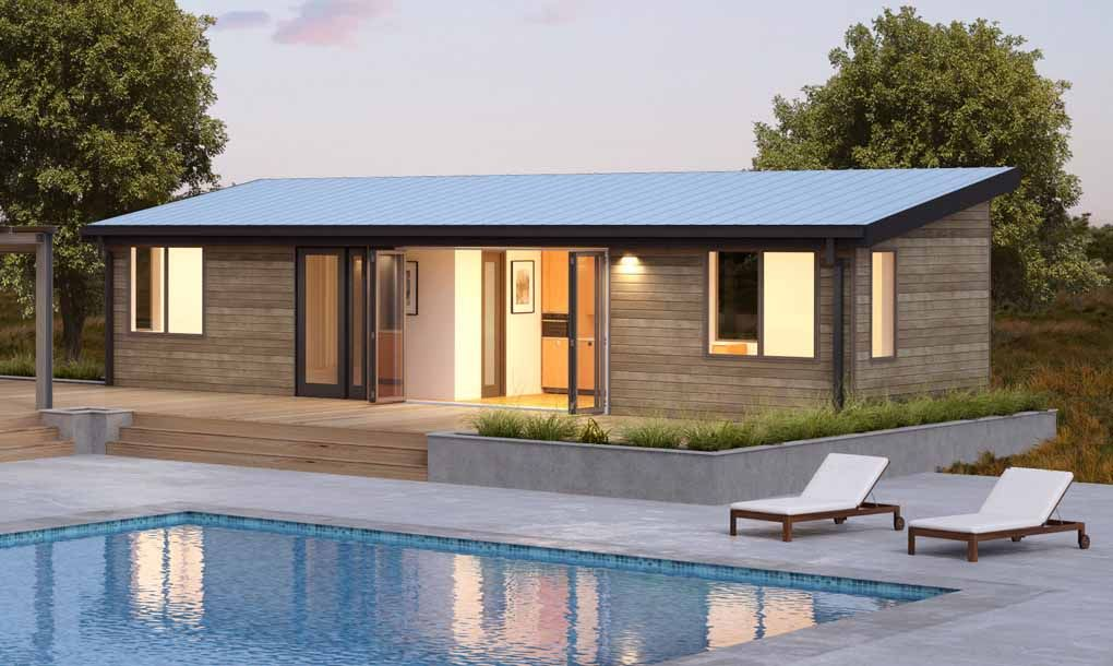 Provide the smallest footprints of blu homes new designs these studio style structures offer flexibility for home expansion and can even function