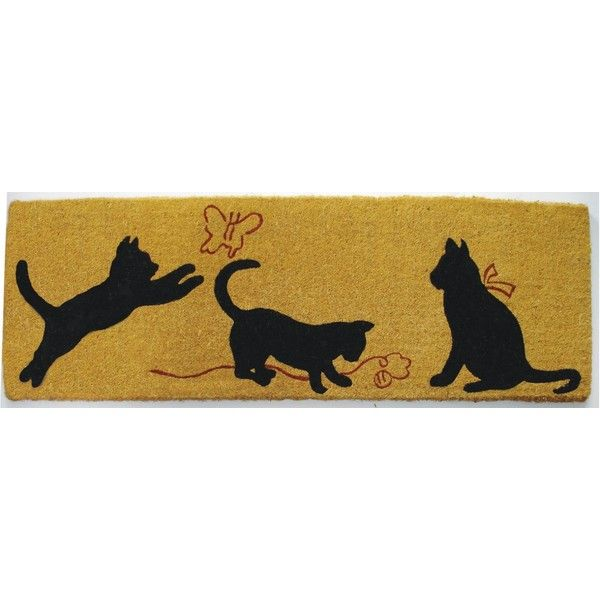French Cats Doormat 149460 Cop Liked On Polyvore Featuring