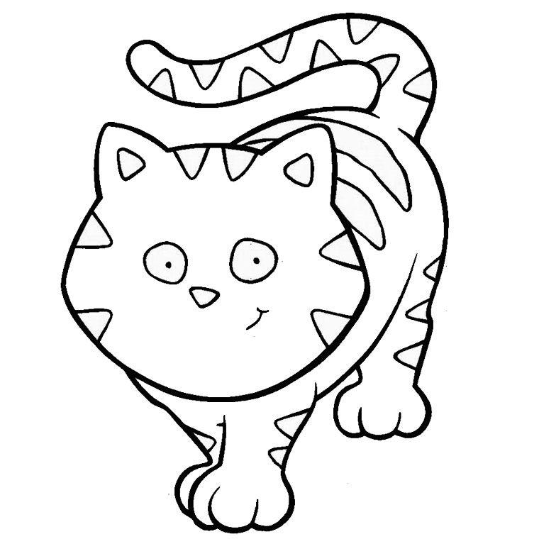 Coloriage animaux chat coloriages animaux pinterest coloriage chat coloriage animaux et - Coloriage gratuit petit chat ...