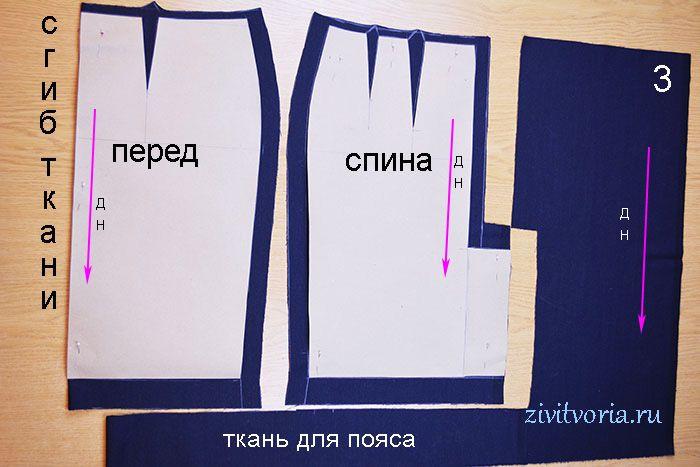 при раскладке выкройки на ткани учитывают