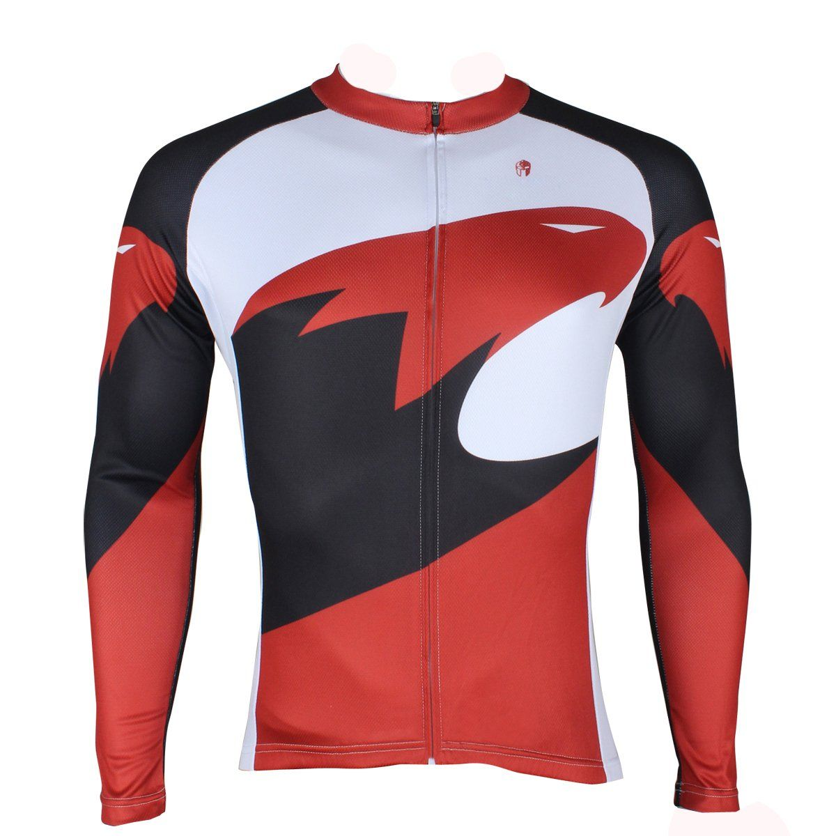 Hot Sale Outdoor Cycling Clothing White and Red Cycling Jersey Wholesale  Men s Long-sleeved Jersey for Spring and Summer Red 9207f000c