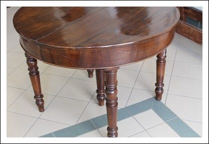 Tavolo Antico Allungabile Antiquariato.Tavolo Lombardo Luigi Filippo 1840 In Noce Massello Allungabile