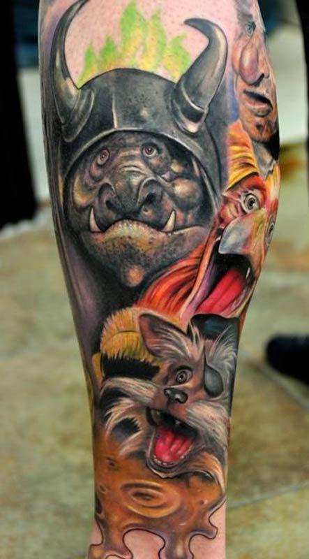 Labyrinth sleeve tattoos arm tattoos inked men inked for Graffiti tattoos sleeves
