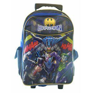 Batman Rolling Backpack - Boys Rolling School Bag   Christmas ...