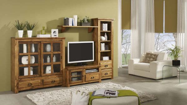 Mueble para tv rustico decoraci n pinterest for Mueble tv multimedia