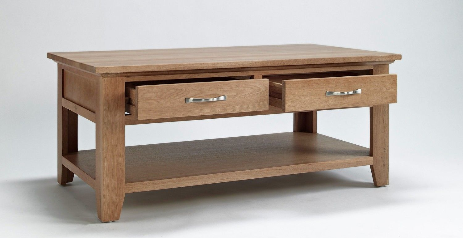 Sherwood Oak Coffee Table With Drawer The Sherwood Oak Range Is - Oak coffee table with drawers and shelf