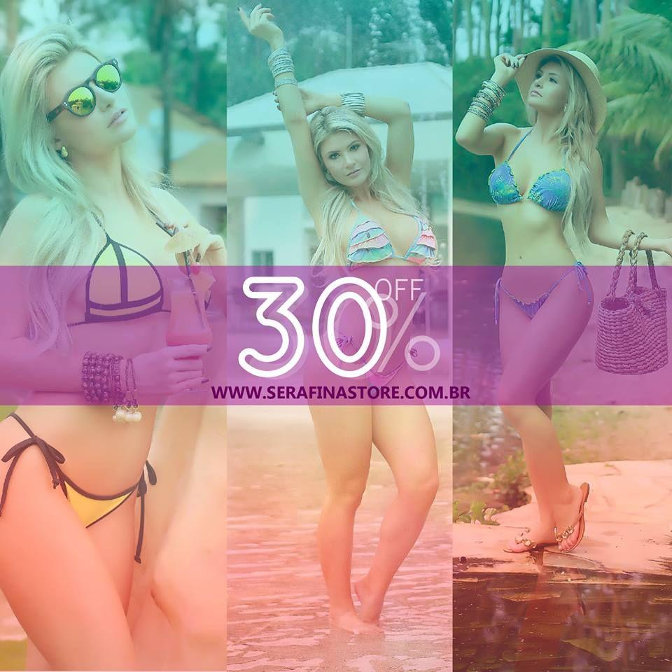 Aproveite! Só mais essa semana: todos os produtos do site com 30% de desconto  www.serafinastore.com.br