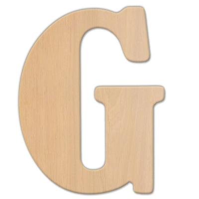 Jeff Mcwilliams Designs  In Oversized Unfinished Wood Letter G