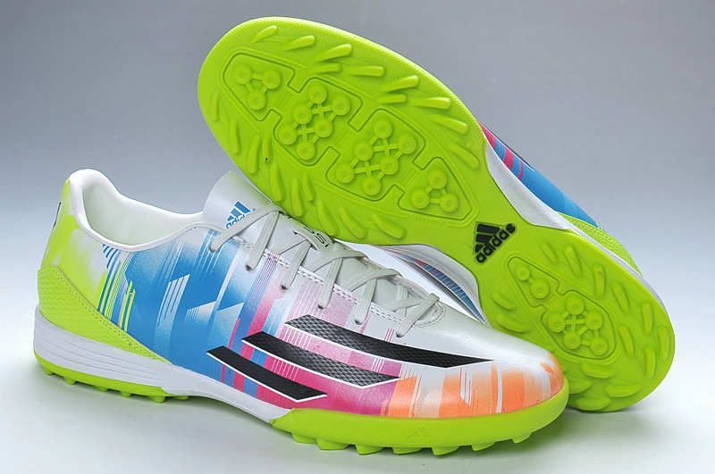 Best 2014 World Cup Adidas Adizero F50 TRX Turf Messi Soccer Shoes Sale  Prism Colorful Electricity 2117111593cdc