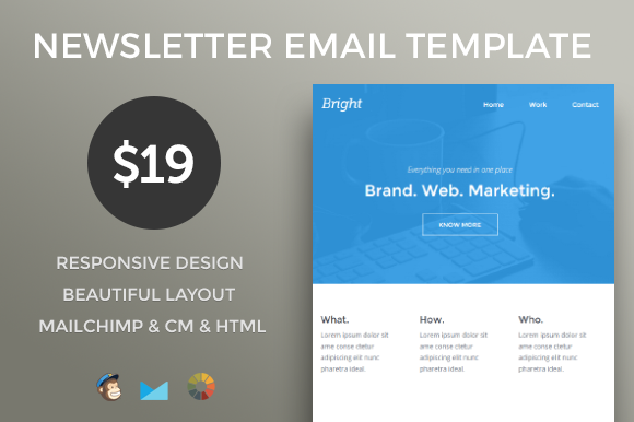 Responsive Email Newsletter Template By Mail Goods On Creative
