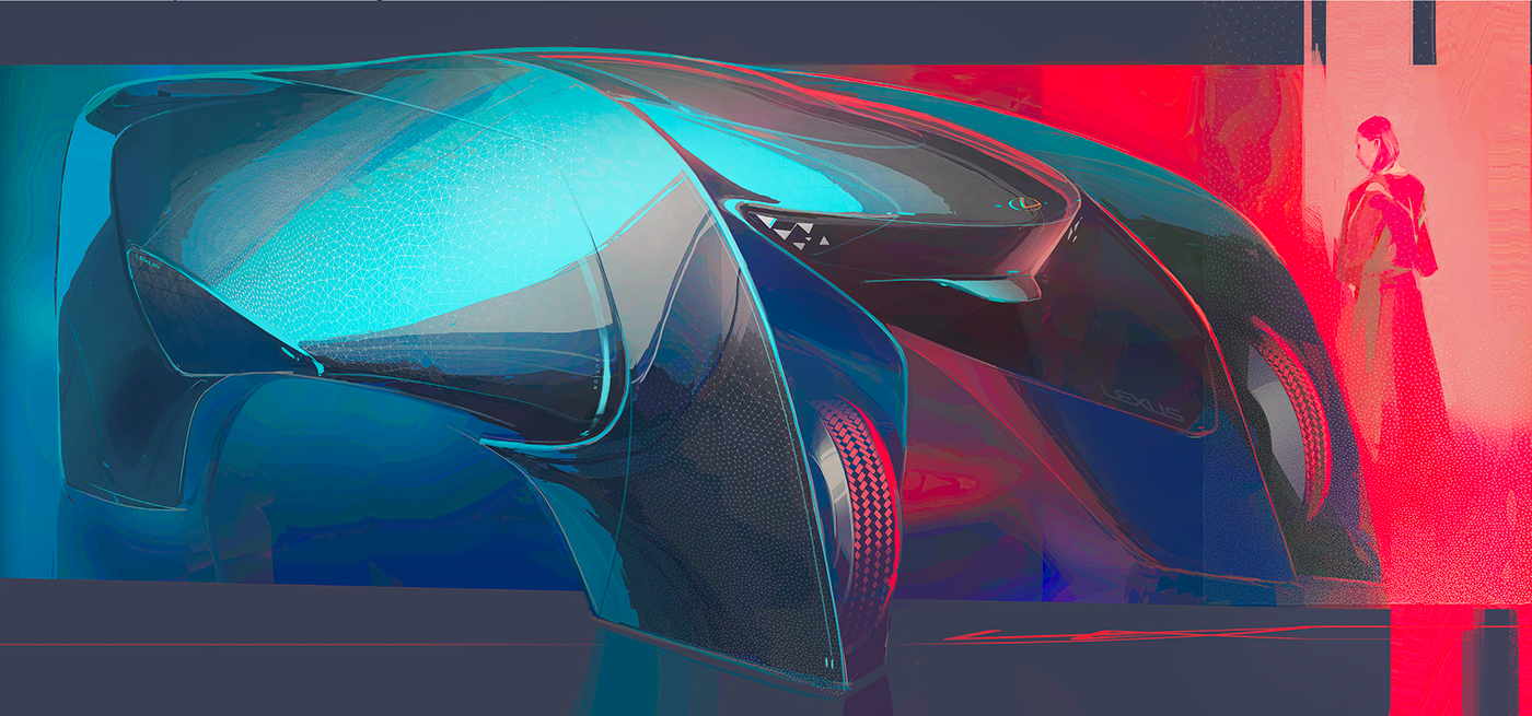 Lexus Vision 2030 Family On Behance Car Design Automotive Design Futuristic Cars