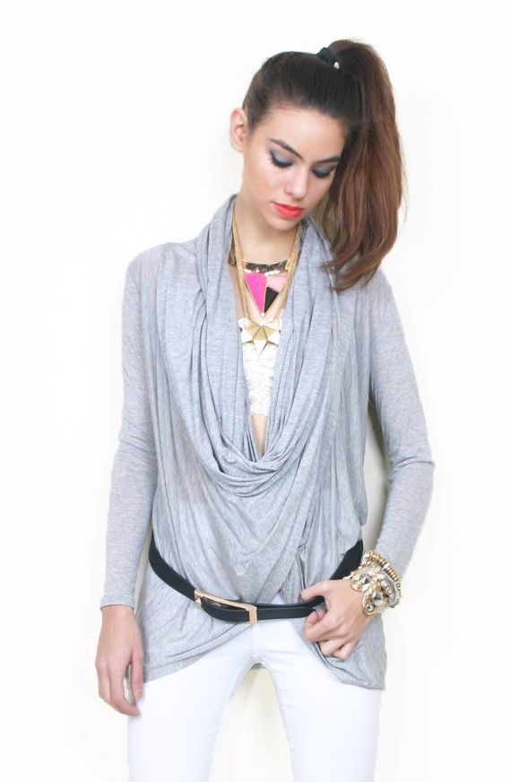 Wrap Neck Twisted Open Knit Top