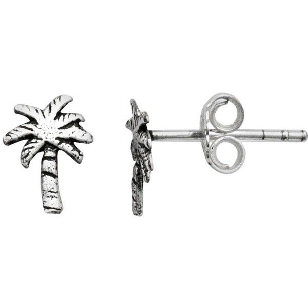 Itsy Bitsy Sterling Silver Palm Tree Stud Earrings 41 Aud Liked On Polyvore Featuring Jewelry