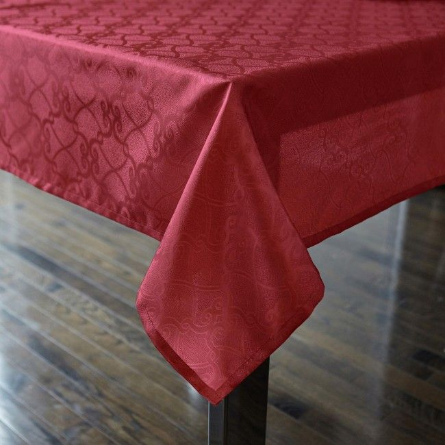 Dress Up Your Dining Table This Christmas Season With A Harman Bordeaux  Polyester Tablecloth. These