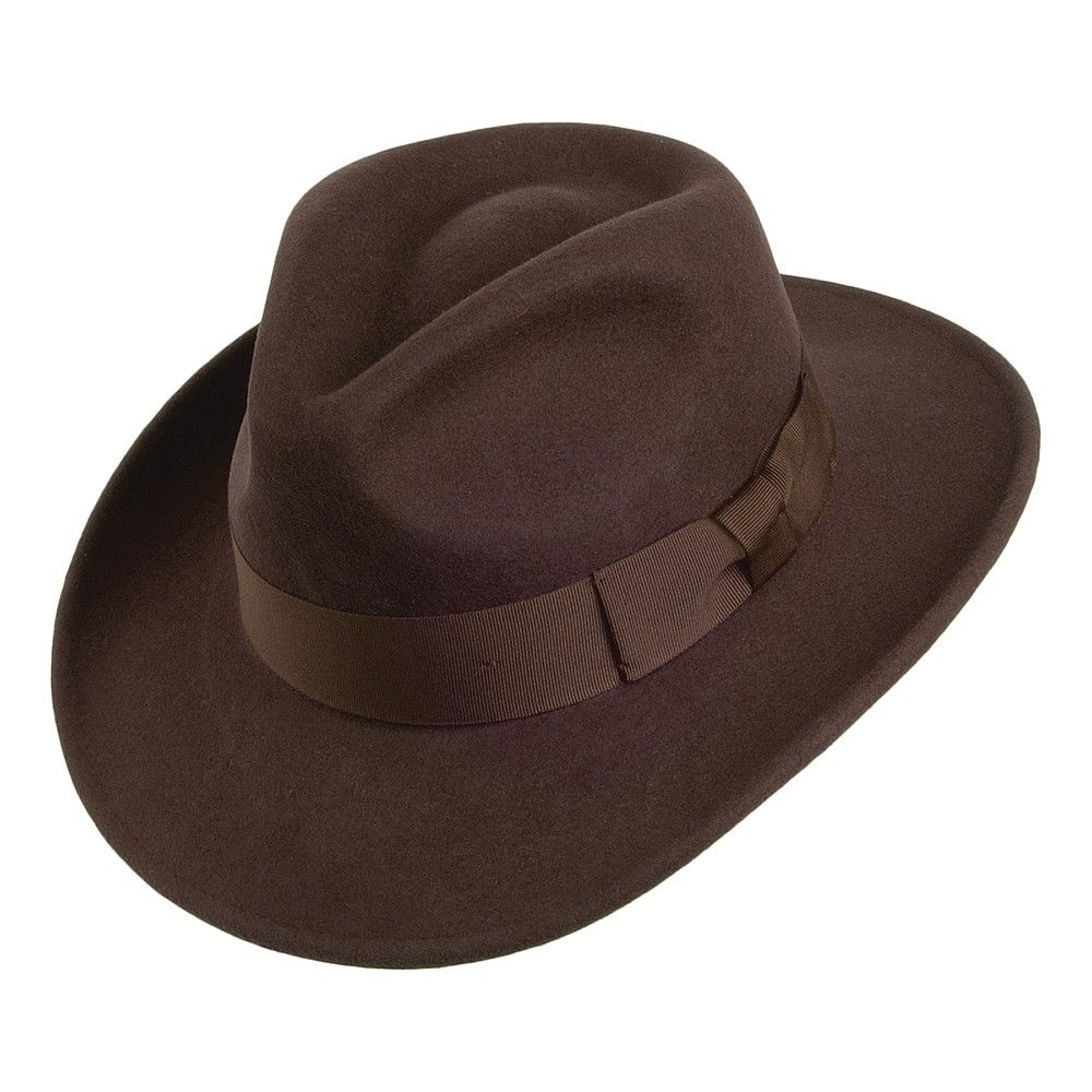 4583051c0b24ac Buy the Jaxon & James Ford Fedora - Brown at Village Hats. The destination  for hats and caps online.