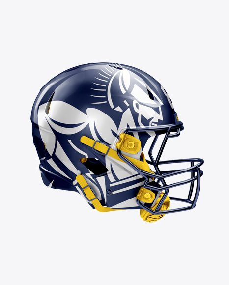 Download American Football Helmet Mockup Right View In Apparel Mockups On Yellow Images Object Mockups Football Helmets Design Mockup Free Free Psd Design