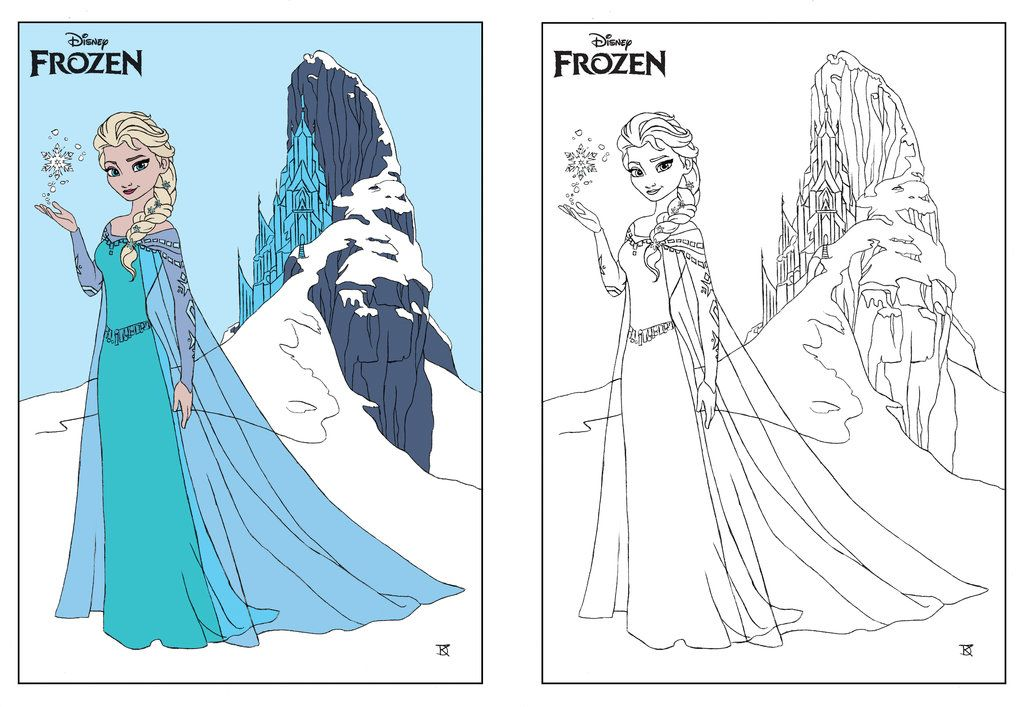 Disney Frozen Elsa Coloring Page By Dvythmsky On Deviantart Elsa Coloring Pages Frozen Coloring Pages Frozen Coloring
