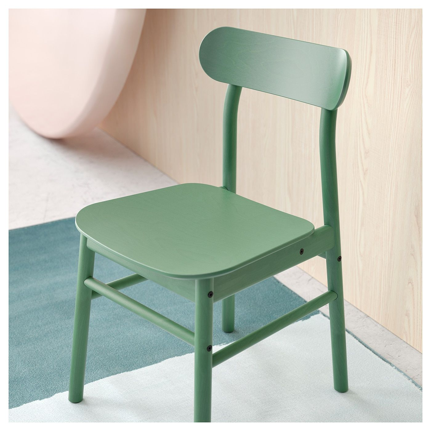 IKEA - NORDVIKEN / RÖNNINGE Table and 4 chairs black, green ...