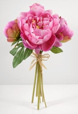 Showcase Elegant Arrangements In Your Home With These Timeless Blooms The Silk Peony Bouquet Pink Adds A Touch To Clic