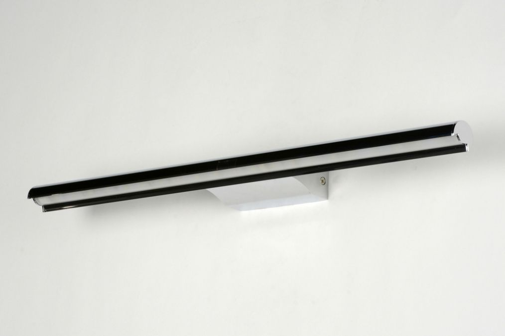 Spiegel wandlamp modern design chroom langwerpig