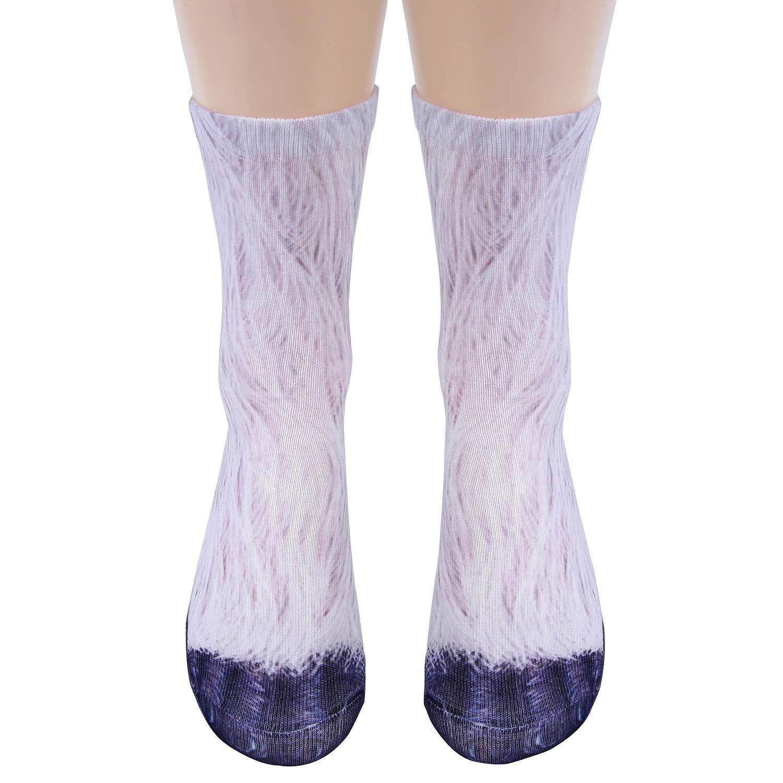 Funny Unisex Adult//Kids Elastic Sock Animal Paw Feet Crew 3D Print Foot Socks Ou