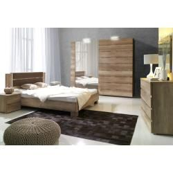 Photo of Double bed / guest bed solid pine solid wood white 77, incl. Slatted frame – 180 x 200 cm (W x L) stone
