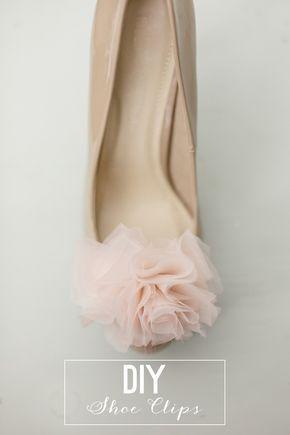 5dfb0155b4a1c DIY Chiffon Pom Pom Shoe Clips | DIY | Shoe refashion, Shoe makeover ...