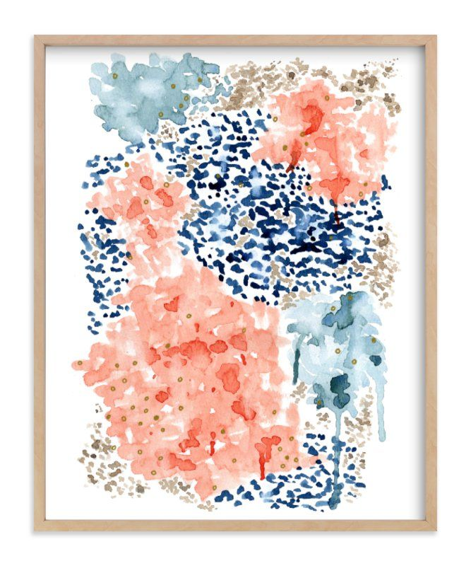 """""""Flutter Watercolor"""" - Art Print by Andi Pahl in beautiful frame options and a variety of sizes."""