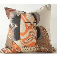 Kabuki Actor w/ Red Face Paint Pillow