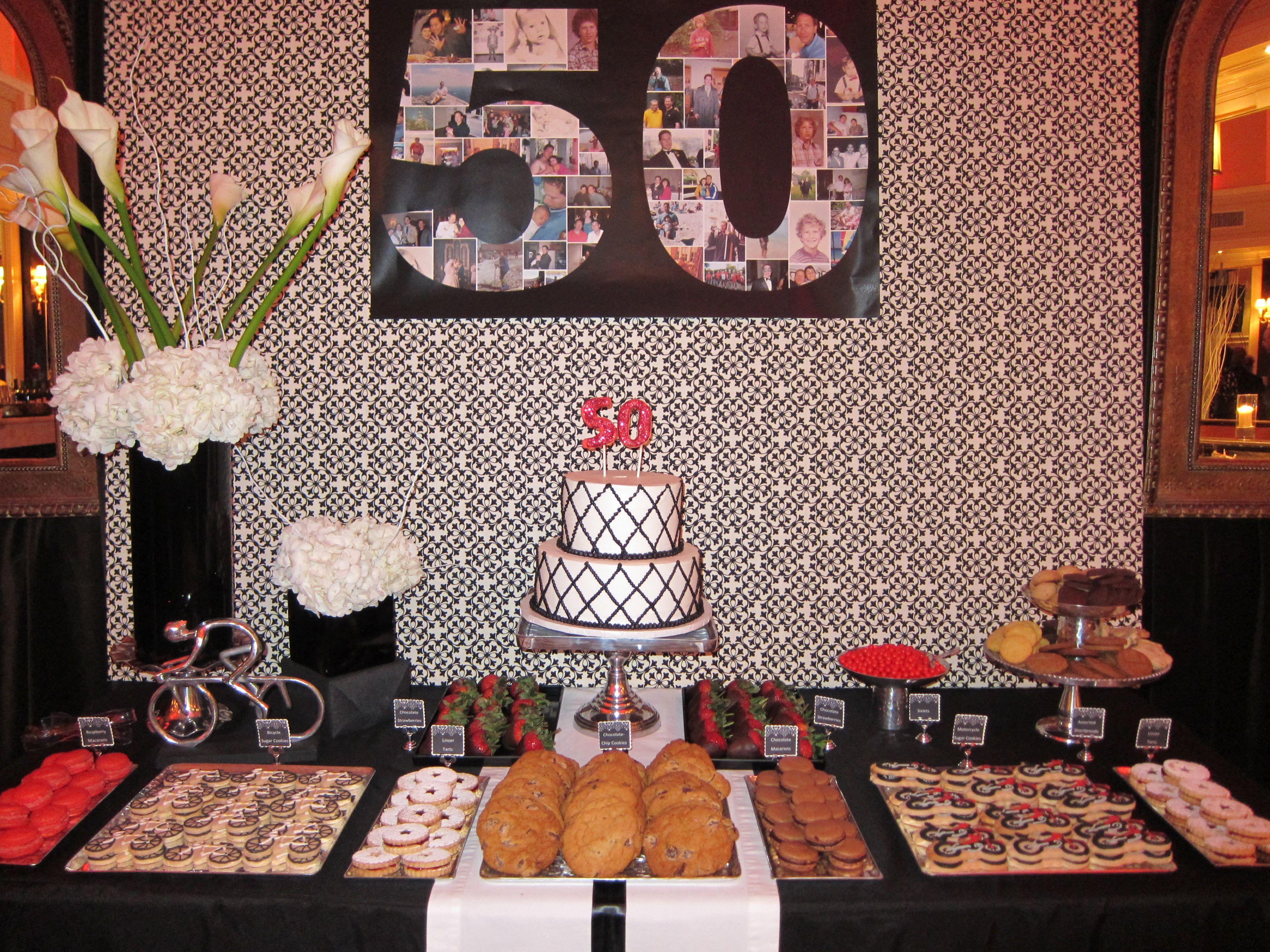 50th Birthday Dessert Table Dessert Table Birthday Birthday