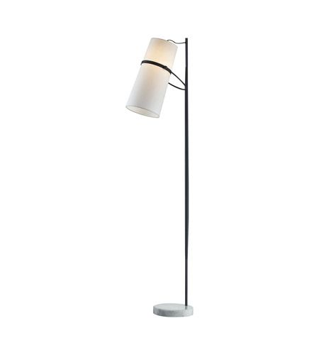 Hey look what i found at lighting new york dimond lighting banded shade 70 inch 100 watt matte black floor lamp portable light in incandescent