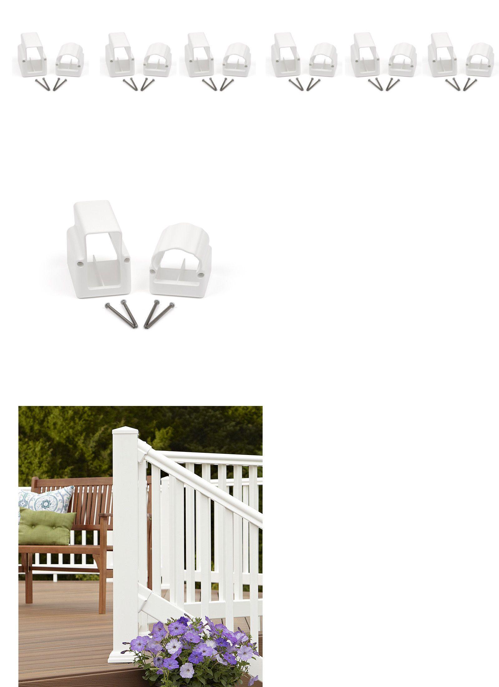 Best Railings 139950 6 Pairs Fiberon White Deluxe Stair 640 x 480