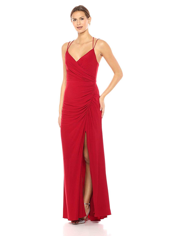 98f53c60695f Adrianna Papell Women s Spaghetti Strap Long Matte Jersey Dress ...