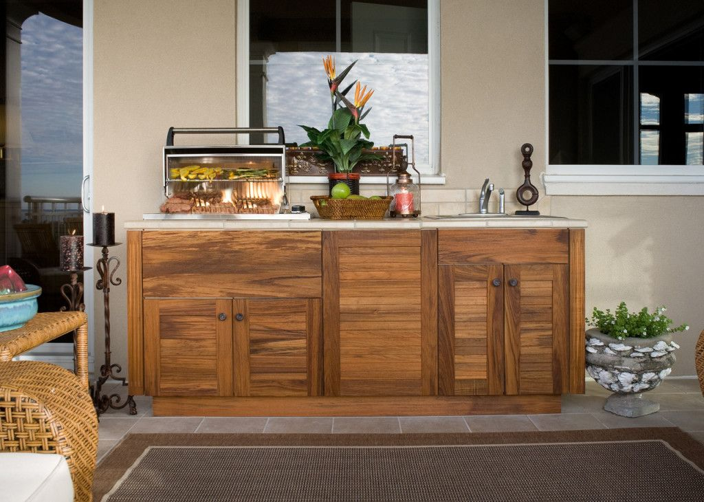 This Is A Nice Simple Cabinet For Our Outdoor BBQ Area, We Can Park Our  Weber Right Next To It.