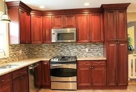 Backsplash Ideas Cherry Cabinets Kitchen Tile Backsplash Ideas With