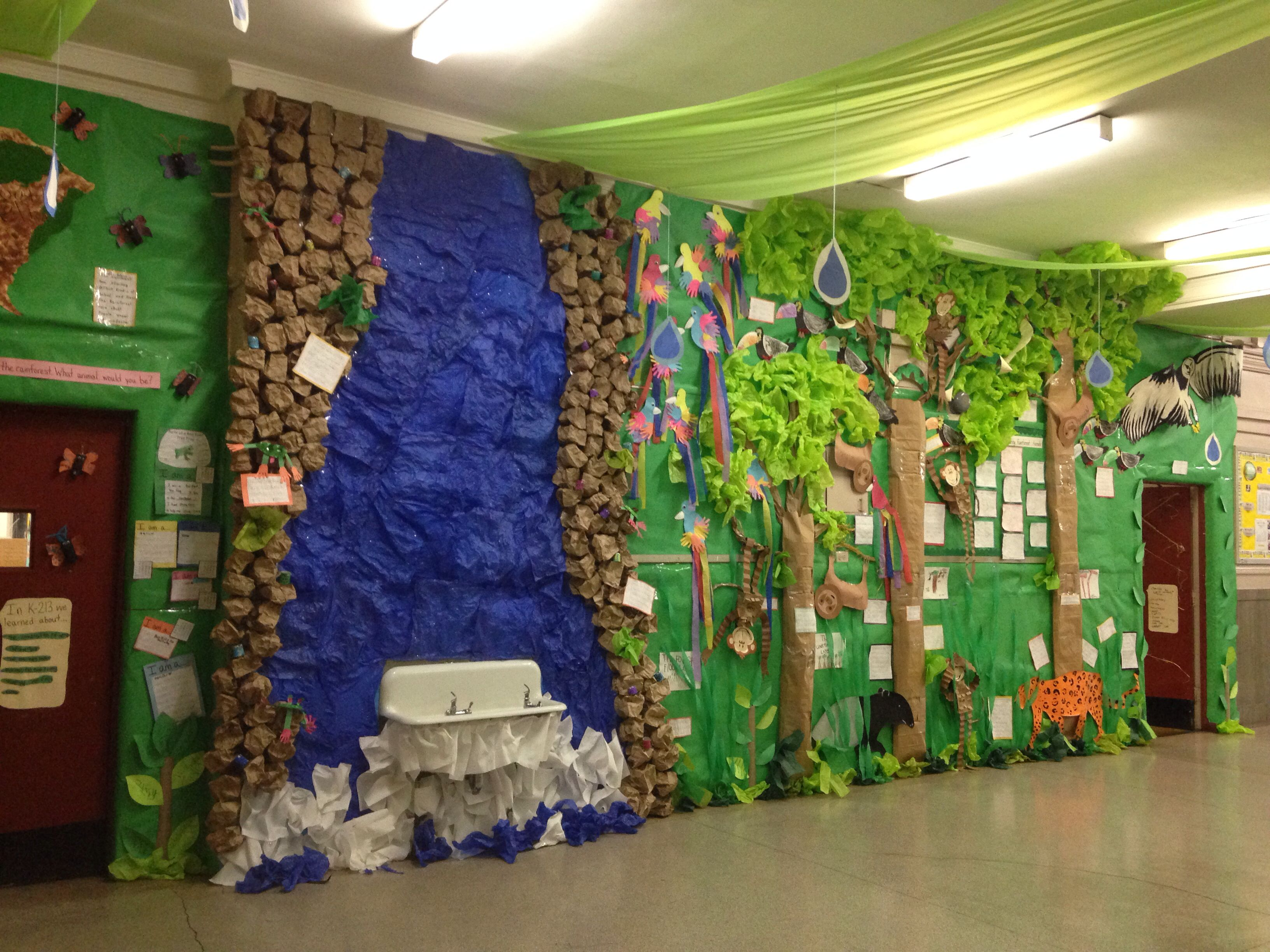 Rainforest Theme Classroom Ideas ~ Rainforest bulletin board boards pinterest