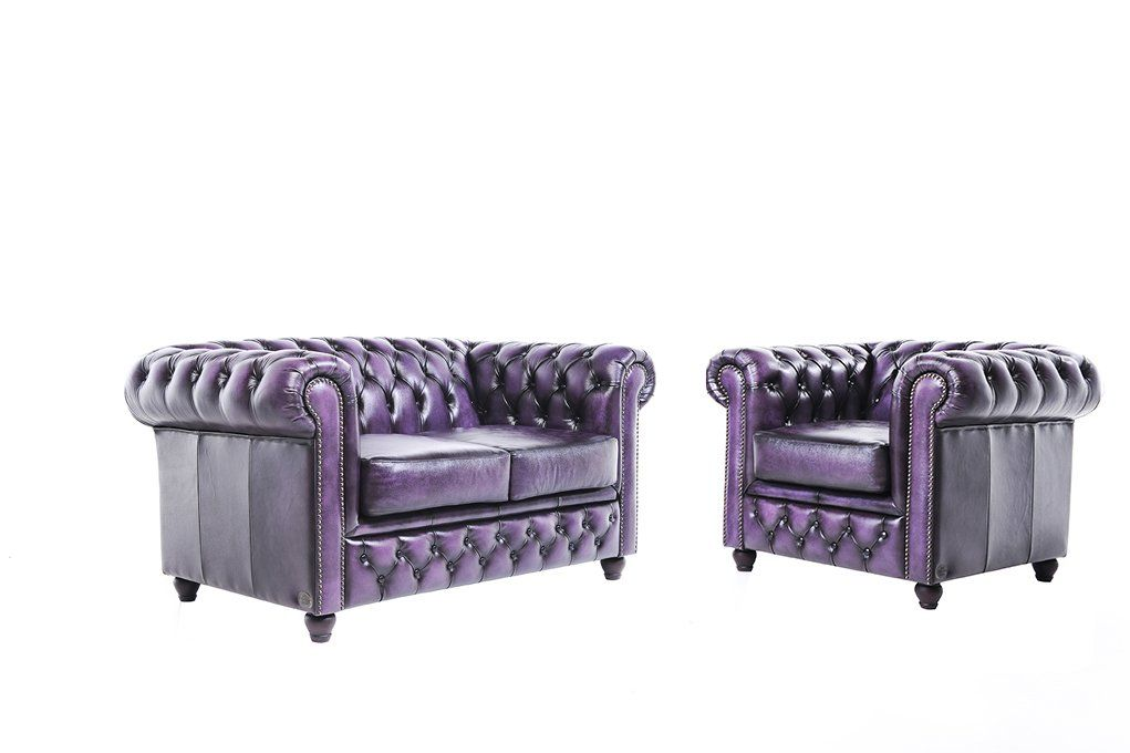 Chesterfield Showroom - Original Chesterfield Sofa / Couch - 1+2
